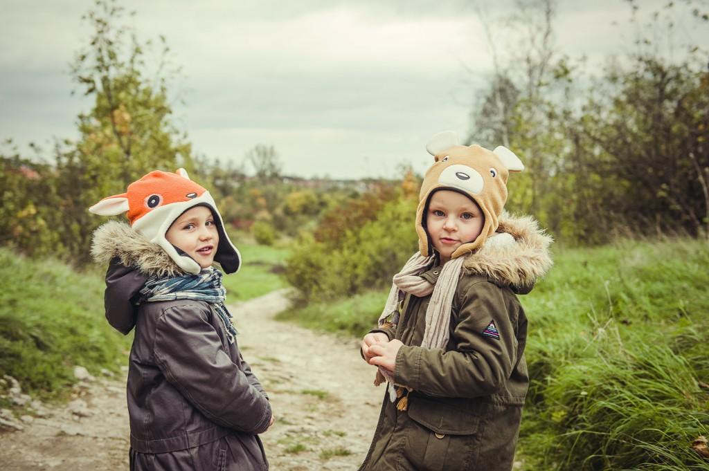 duże czapy plener-107 _lisek i miś